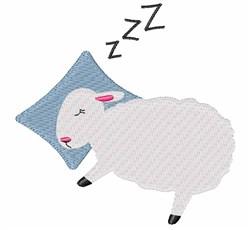 Sleepy Sheep embroidery design