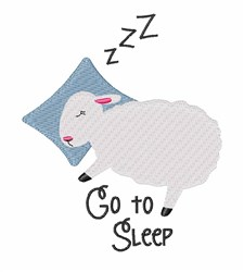 Go To Sleep embroidery design