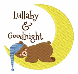 Lullaby Goodnight embroidery design