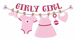 Girly Girl embroidery design