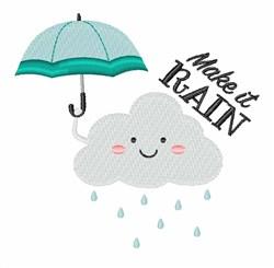 Make It Rain embroidery design