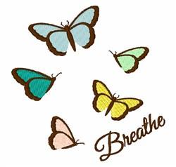 Butterflies Breathe embroidery design