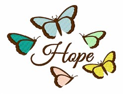 Butterflies Hope embroidery design