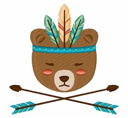 Native Bear embroidery design