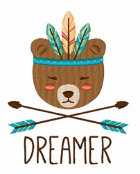 Bear Dreamer embroidery design