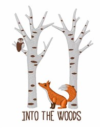 Into The Woods embroidery design