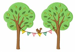 Spring Squirrel embroidery design