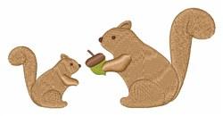 Squirrel & Acorn embroidery design
