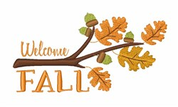 Welcome Fall embroidery design