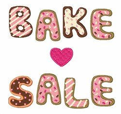 Bake Sale embroidery design