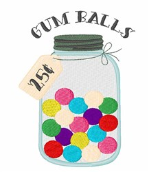 Gum Balls embroidery design