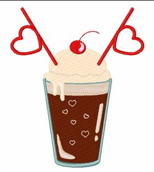 Root Beer Float embroidery design