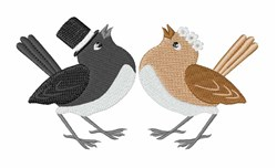 Wedding Birds embroidery design