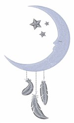 Moon Feathers embroidery design