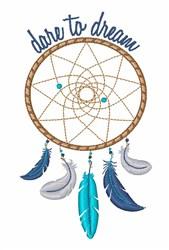 Dare Dream embroidery design