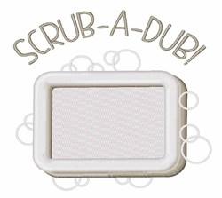Scrub-A-Dub embroidery design