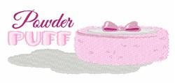 Powder Puff embroidery design