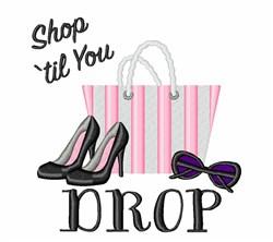 Shop Til Drop embroidery design