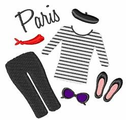Paris Clothes embroidery design