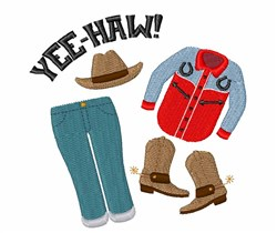 Yee-Haw Clothes embroidery design