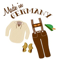 Made In Germany embroidery design