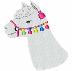 Alpaca Head embroidery design