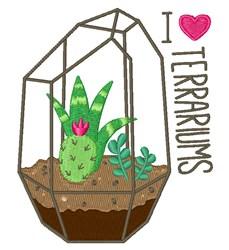Love Terrariums embroidery design