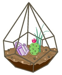 Terrarium Plants embroidery design