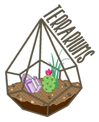 Terrariums embroidery design