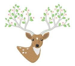Deer Tree Antlers embroidery design