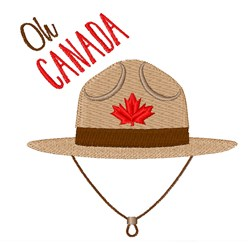 Oh Canada embroidery design