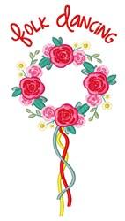 Folk Dancing embroidery design