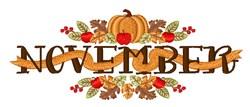 November embroidery design