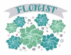 Succulent Florist embroidery design