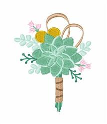 Succulent Bouquet embroidery design