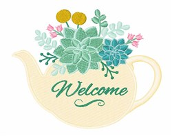 Planter Welcome embroidery design