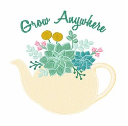 Grow Anywhere embroidery design