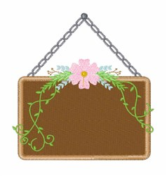 Floral Sign embroidery design