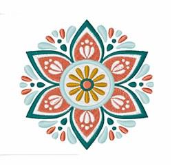 Mandala Flower embroidery design
