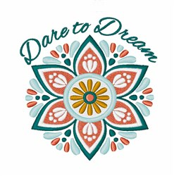 Dare To Dream embroidery design