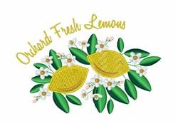 Fresh Lemons embroidery design