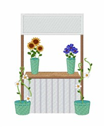 Flower Stand embroidery design