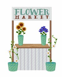 Flower Market embroidery design
