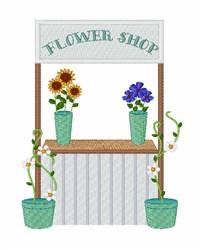 Flower Shop embroidery design