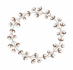 Cotton Wreath embroidery design
