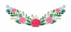 Rose Swag embroidery design