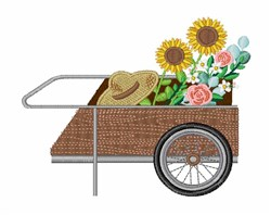 Flower Cart embroidery design