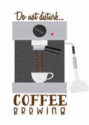 Coffee Brewing embroidery design