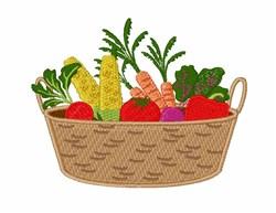 Vegetable Basket embroidery design