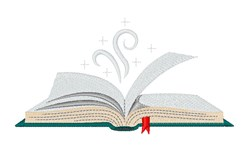 Reading Book embroidery design